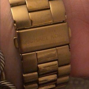 Michael Kors Accessories - Mk oversized face gold watch